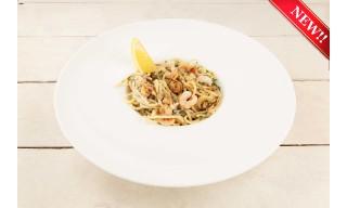 Спагетти с креветками и перцем чили