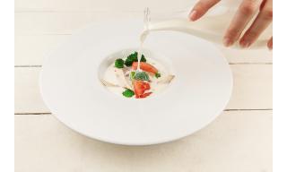 Сырный крем-суп с брокколи и курицей