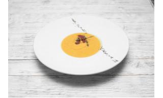 Чечевичный крем суп с вялеными томатами